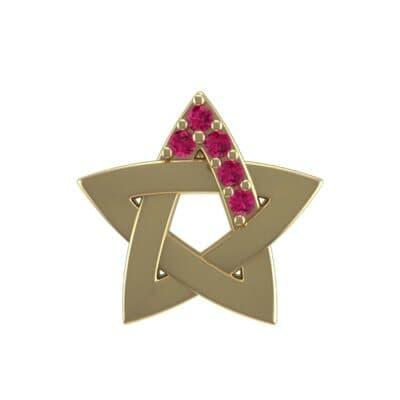 Pentagram Ruby Pendant (0.06 Carat)