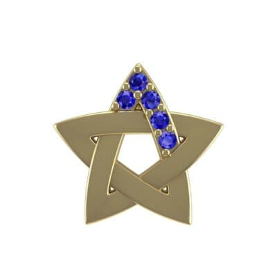 Pentagram Blue Sapphire Pendant (0.06 Carat)