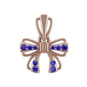 Bow Blue Sapphire Pendant (0.16 Carat)