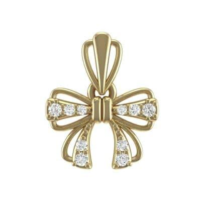 Bow Diamond Pendant (0.14 Carat)