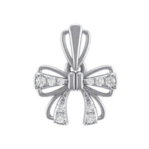 Bow Diamond Pendant (0.14 Carat)