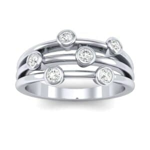 Bezel-Set Trio Diamond Ring (0.21 Carat)