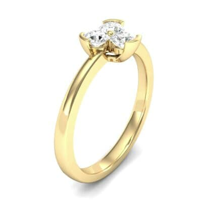 Three-Stone Flower Diamond Engagement Ring (0.33 Carat)