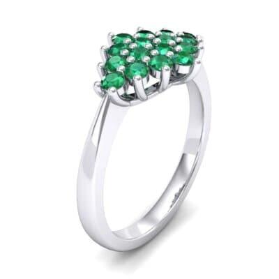Venus Emerald Cluster Engagement Ring (1.54 Carat)