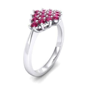 Venus Ruby Cluster Engagement Ring (1.54 Carat)
