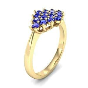Venus Blue Sapphire Cluster Engagement Ring (1.54 Carat)