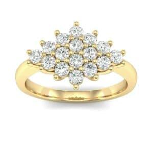 Venus Diamond Cluster Engagement Ring (0.56 Carat)