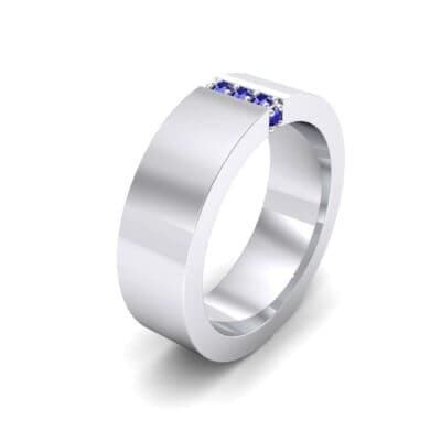 Vertical Channel Blue Sapphire Ring (0.1 Carat)