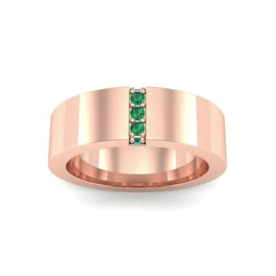 Vertical Channel Emerald Ring (0.1 Carat)