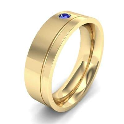 Single Round-Cut Blue Sapphire Ring (0.1 Carat)