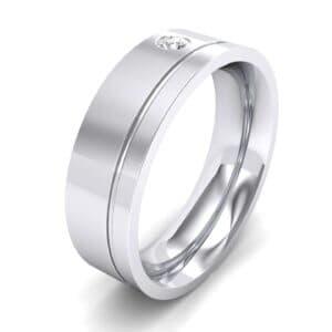 Single Round-Cut Diamond Ring (0.07 Carat)