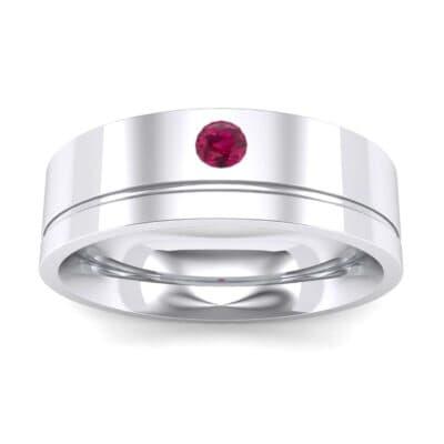Single Round-Cut Ruby Ring (0.1 Carat)