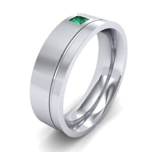 Single Princess-Cut Emerald Ring (0.12 Carat)
