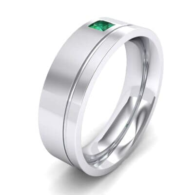 Single Princess-Cut Emerald Ring (0.12 Carat)