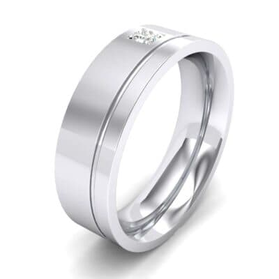 Single Princess-Cut Diamond Ring (0.06 Carat)