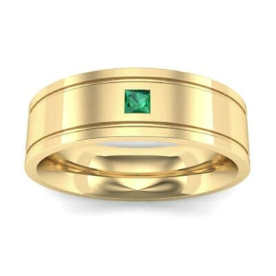 Three-Stone Vertical Channel Emerald Ring (0.06 Carat)