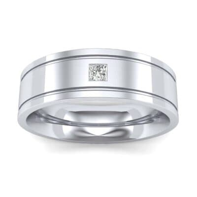 Three-Stone Vertical Channel Diamond Ring (0.06 Carat)