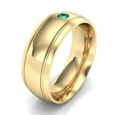 Striped Round-Cut Emerald Ring (0.06 Carat)