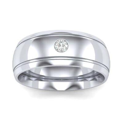 Striped Round-Cut Diamond Ring (0.06 Carat)