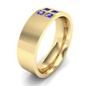 Square Four-Stone Blue Sapphire Ring (0.39 Carat)