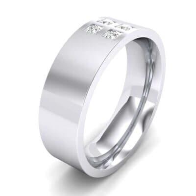 Square Four-Stone Diamond Ring (0.14 Carat)