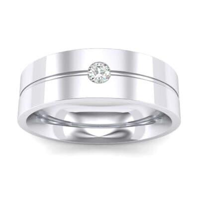 Single Line Round-Cut Diamond Ring (0.07 Carat)