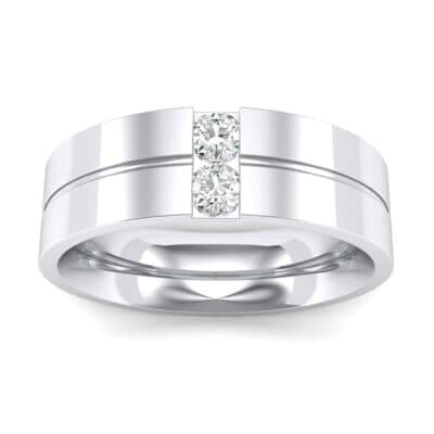 Two-Stone Vertical Channel Diamond Ring (0.13 Carat)