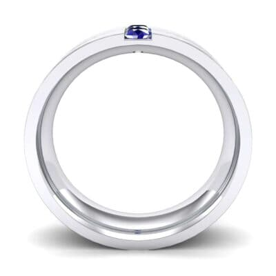 Two-Stone Vertical Channel Blue Sapphire Ring (0.19 CTW) Side View