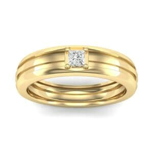 Single Line Round-Cut Diamond Ring (0.17 Carat)