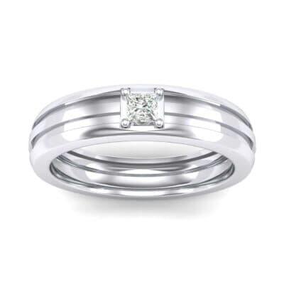 Single Line Round-Cut Diamond Ring (0.17 Carat)
