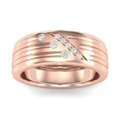 Diagonal Pave Diamond Ring (0.19 Carat)
