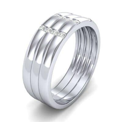 Triple Vertical Channel Diamond Ring (0.27 Carat)