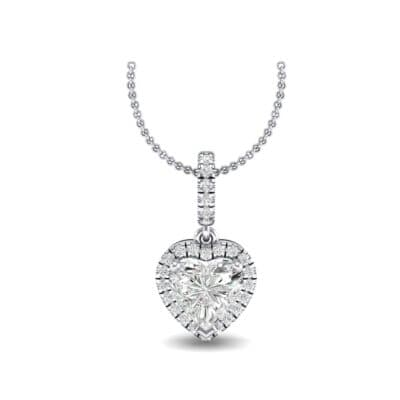 Heart-Shaped Halo Diamond Pendant (0.88 Carat)