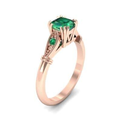 Vintage Shoulder Emerald Engagement Ring (0.8 Carat)