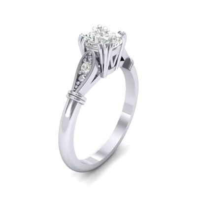 Vintage Shoulder Diamond Engagement Ring (0.8 Carat)