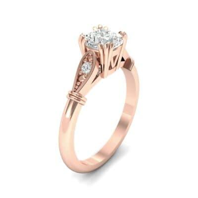 Vintage Shoulder Diamond Engagement Ring (0.8 Carat)