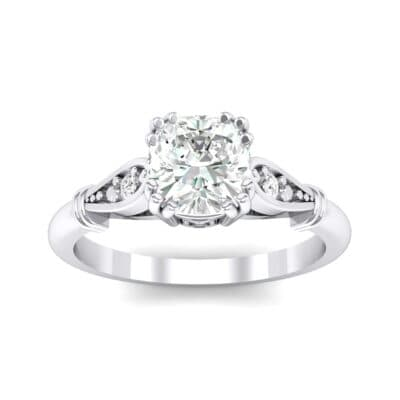 Vintage Shoulder Crystals Engagement Ring (0.8 Carat)