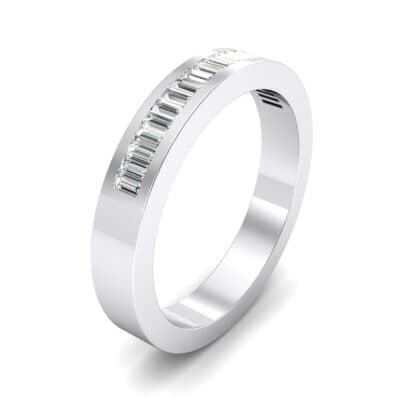 Channel-Set Baguette Crystal Ring (0.6 CTW)