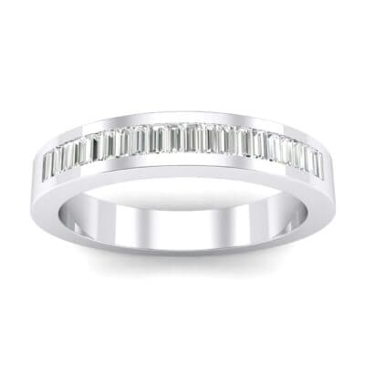 Channel-Set Baguette Crystals Ring (0.6 Carat)