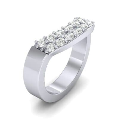 Curved Two-Row Diamond Ring (0.52 Carat)