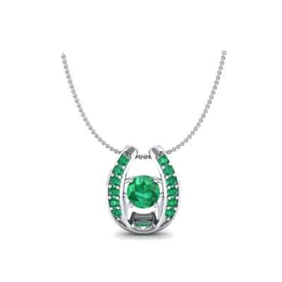Horseshoe Emerald Pendant Necklace (0.76 Carat)