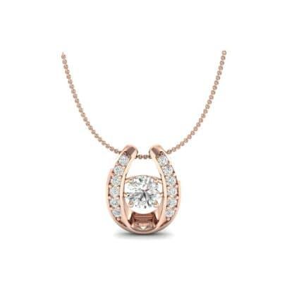 Horseshoe Diamond Pendant Necklace (0.76 CTW) Perspective View