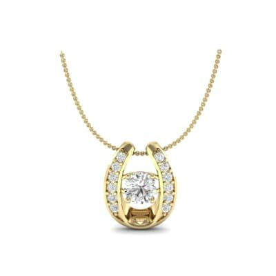 Horseshoe Diamond Pendant Necklace (0.76 Carat)