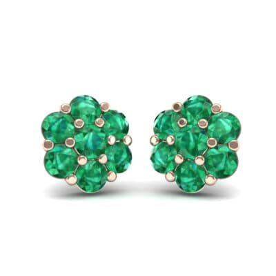 Astrid Emerald Cluster Earrings (1.02 Carat)