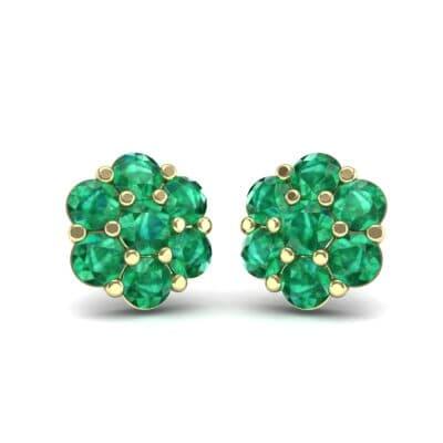 Astrid Emerald Cluster Earrings (1.02 Carat)