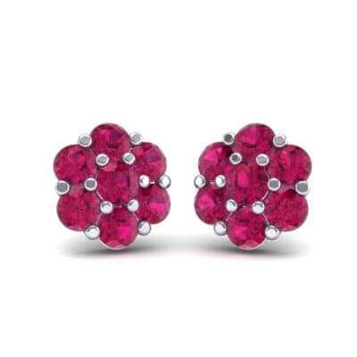 Astrid Ruby Cluster Earrings (1.02 Carat)