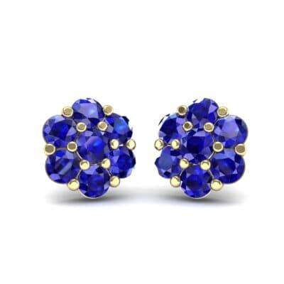 Astrid Blue Sapphire Cluster Earrings (1.02 Carat)
