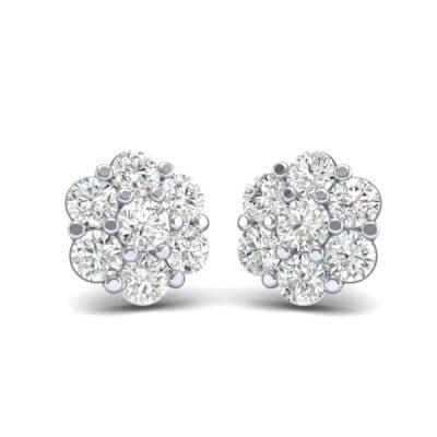 Astrid Diamond Cluster Earrings (1.02 Carat)