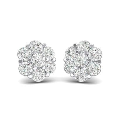 Astrid Crystal Cluster Earrings (1.02 CTW) Perspective View