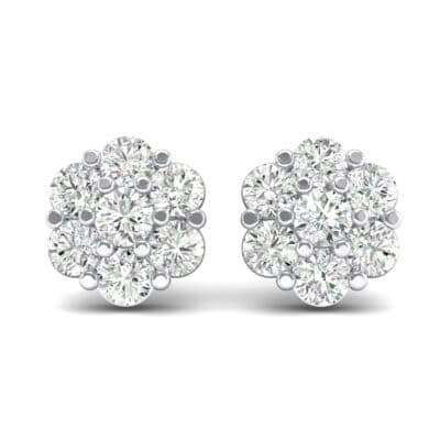 Astrid Crystal Cluster Earrings (1.02 CTW) Side View